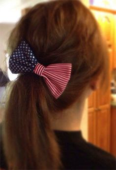 Happy Memorial Day to you and your families! #patrioticponytail