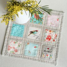 Stitching Notes: Tutorial: Lovely Squares Mini Quilt