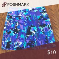 Blue and black form fitting patterned mini skirt Form fitting and flattering mini skirt. Perfect condition. I also have one in red, check out my closet! mandee Skirts Mini