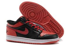 sports shoes a3b41 f1098 Buy Discount Code For Sale Warm Low Cut Air Jordan 1 I Retro Mens Shoes Fur  Inside For Winter Black Red from Reliable Discount Code For Sale Warm Low  Cut ...
