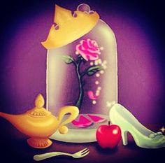 Disney Symbols: Snow White & the Seven Dwarves , Cinderella ,Sleeping Beauty ,Beauty & the Beast , The Little Mermaid & Aladdin