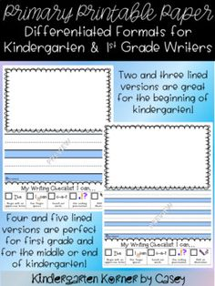 Download A Free Sample Of My Custom Printable Primary Lined