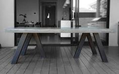 concrete dining table - Google Search