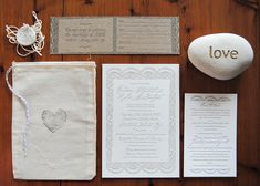 Light & simple & super pretty.  Fiji Destination Wedding Invitations via Oh So Beautiful Paper.