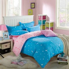 Now Available at our Store: 100% Cotton Beddi... You can check it out here! http://www.magicalbeddings.com/products/100-cotton-bedding-moon-light-blue-dreams?utm_campaign=social_autopilot&utm_source=pin&utm_medium=pin