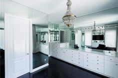 Numerous rooms, dramatic mirror accents and glass panels draw light to make Kylie Jenner's home seem even more spacious.