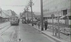 Miller St, North Sydney, sometime in the 1950's, looking north, with the recently completed MLC Building on the right