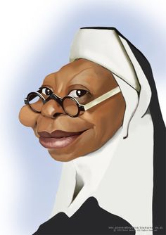 Whoopi Goldberg #Caricature #FunnyFaces
