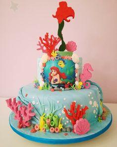 Little Mermaid Parties, The Little Mermaid, Sirenita Cake, Party Candy, Sugar Art, Mermaids, Fondant, Birthdays, Desserts