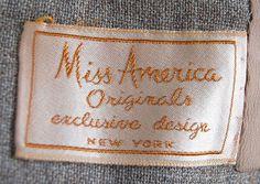 Miss America Originals Vintage Clothing, Vintage Outfits, Miss America, Name Tags, Clothing Labels, Typography Inspiration, Packaging, Inspirational, Mood
