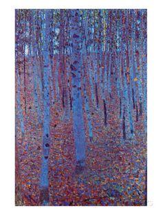 Beech Forest Prints by Gustav Klimt - AllPosters.co.uk