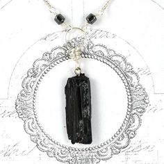 1577846d0 Ammonite Fossil Necklace Polished Stone Triangle | Sally's Jewelry Shop |  Pinterest