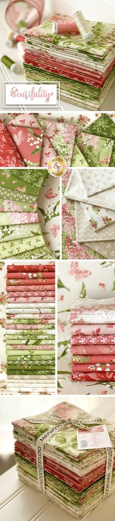 Sensibility from Maywood Studio - - Sensibility from Maywood Studio Floral Fabric Sensibility is a stunning floral collection by Maywood Studio. Collection includes FQ set, precuts, and yardage. Tissu Style Shabby Chic, Shabby Chic Stoff, Shabby Chic Fabric, Shabby Fabrics, Sewing Art, Sewing Crafts, Sewing Projects, Patchwork Quilt Patterns, Patchwork Fabric