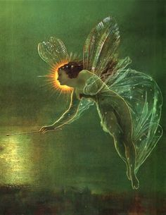 "Faeries, come take me out of this dull world,  For I would ride with you upon the wind,  Run on the top of the dishevelled tide,  And dance upon the mountains like a flame.  ~William Butler Yeats, ""The Land of Heart's Desire,"" 1894....  Painting by John Atkinson Grimshaw"