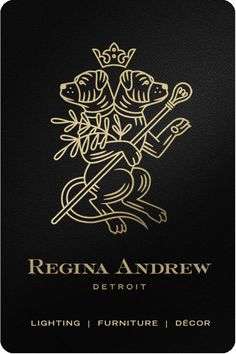 Regina Andrew Detroit is a lifestyle brand which specializes in lighting, furniture, and decor located in the Paris of the Midwest. Lettering Design, Branding Design, Logo Design, Design Your Own Home, Fantasy Art Women, Tattoo Flash Art, Cool Posters, Vinyl Art, Graphic Design Illustration