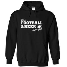 Awesome Football Lovers Tee Shirts Gift for you or your family member and your friend:  Football Beer Kinda Girl Tee Shirts T-Shirts