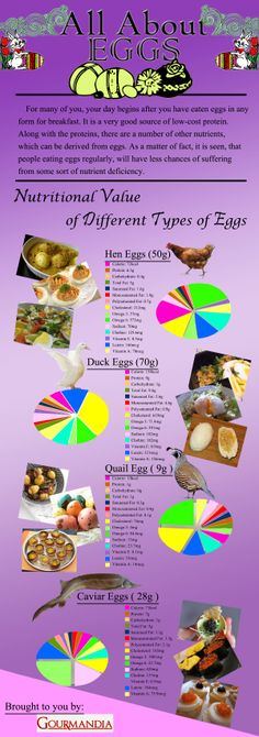 This is about eggs and its nutrition facts. This is more focused on four egg types, namely Hen Eggs, Duck Eggs, Quail Eggs and Caviar Eggs.