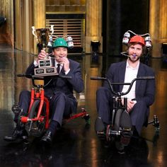 Jimmy Fallon and Liam Hemsworth