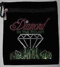 """Bling Diamond in the Rough Accessory Bag. This bag is 6.5"""" x 7.5""""."""