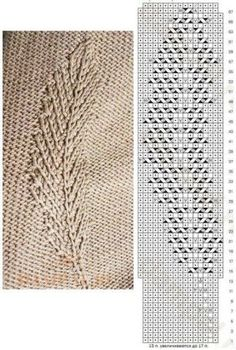 Lace Knitting Stitches, Lace Knitting Patterns, Knitting Charts, Easy Knitting, Stitch Patterns, Knitting Projects, Knitting Ideas, Creations, Crochet Diagram