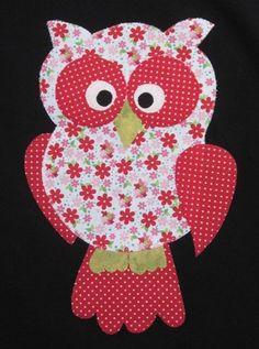 Machine applique quilting fabrics New Ideas Owl Applique, Applique Templates, Machine Applique, Applique Patterns, Applique Quilts, Applique Designs, Embroidery Applique, Quilt Patterns, Patch Quilt