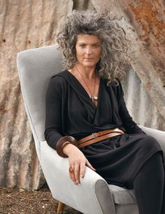 When I get older I wanna style like this - hair all grey and wild, dress all sleek and elegant.
