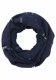 Colours Cosmetic Loop, mit glänzendem Folienprint, Marine Look für 14,99€. Modischer Rundschal, Folienprint Moin Moin und Anker, Angenehm zu tragen bei OTTO