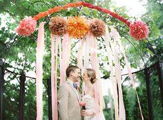 Hanging ceremony decor idea