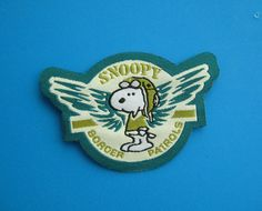 So cute~ Iron-on Patch Snoopy for Border Patrols 2.4 inch