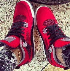 Red, black, and Grey Jordan's