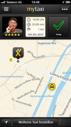 Ein Taxi finden mit MyTaxi