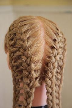 How to do a French Ladder Braid . Free tutorial with pictures on how to style a French braid in under 20 minutes by applying makeup and hairstyling with hair comb and rubber. How To posted by abellasbraids. in the Beauty section Difficulty: Cost: . Box Braids Hairstyles, Braided Hairstyles For Teens, Braided Hairstyles Tutorials, Teen Hairstyles, Pretty Hairstyles, French Hairstyles, Kids Hairstyle, Hairstyles Videos, Hairstyles Pictures