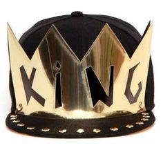 16b1a2e5974 Hip-Hop King Crown Black Adjustable Hat Cap Snapback - USA Seller
