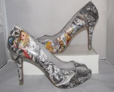 shoes with John Tenniels's drawings (Alice in Wonderland)