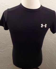 Under Armour Mens Black HeatGear Athletic Compression Shirt MD Medium GUC #UnderArmour #ShirtsTops