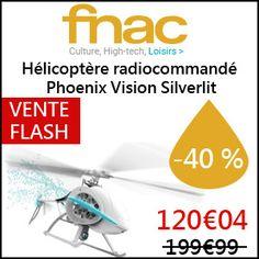 #missbonreduction; Vente Flash : économisez 40 % sur l'Hélicoptère radiocommandé Phoenix Vision Silverlit chez FNAC.http://www.miss-bon-reduction.fr//details-bon-reduction-FNAC-i329-c1829362.html