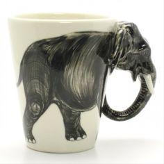 Elephant Mug Animal Lover Handmade Ceramic Coffee Cup Art Crafts .. 2015 - 2016 http://profotolib.com/picture.php?/13247/category/494