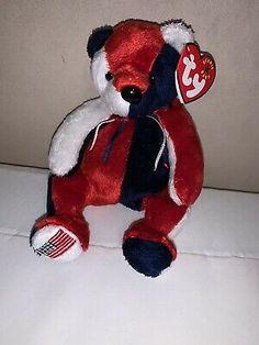2000 Ty Beanie Baby Patriot Red White & Blue Bear Original  Rare Beanie Baby  | eBay