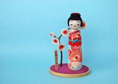 Japanese Kokeshi Doll (Odango-chan)カナダ名物ひねこけし by hine
