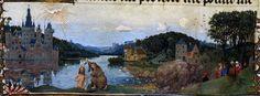Hubert and Jan van Eyck  : Baptism in the river Jordan. 1425 Museo Civico d'Arte Antica di Torino , フーベルト・ファン・エイク & ヤン・ファン・エイク