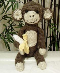 Amigurumi (crochet) monkey