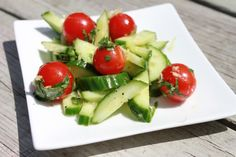 """Cucumber Salad With Lemon & Basil 