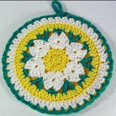 Crochet Pattern Daisy Potholder