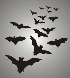 Bats Gothic Stencil Design from Stencil Kingdom