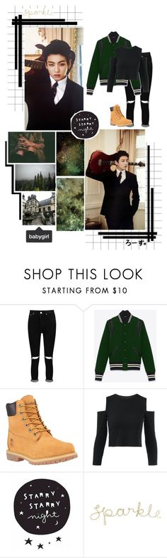 """""""Wait, What?"""" by fantasy-lover-0719 ❤ liked on Polyvore featuring Boohoo, Yves Saint Laurent and Timberland"""