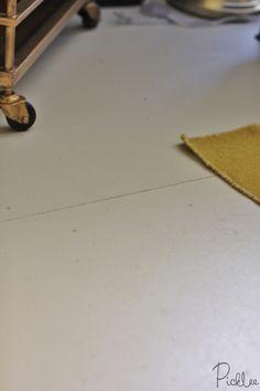Tutorial! DIY Painted Plywood Subfloor