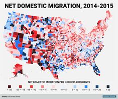 These Are The Fastest Growing And Shrinking Counties In America - Interactive us map county influx