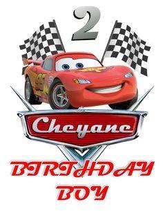 T-shirt Disney Cars DIY Custom Iron On Transfer Printable Pixar Cars Birthday, Cars Birthday Parties, Cool Birthday Cakes, Boy Birthday, Auto Party, Car Themes, Cute Cars, Diy Car, Blog