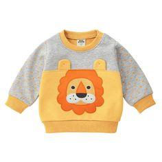 MOF Kids sweatshirts infant baby boy sweat suit cartoon animal print Baby Boy Outfits, Kids Outfits, Teddy Bear Clothes, Baby Dress Design, Cute Lion, Kids Coats, Orange, Sweater Outfits, Print Logo
