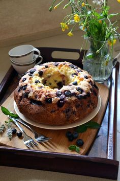 The best yogurt and blueberry bundt cake - soft, moist and balanced